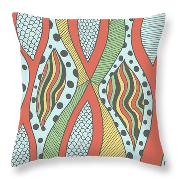 Playful Insanity Throw Pillow