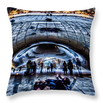 Playful Ladies By Chicago's Bean  Throw Pillow