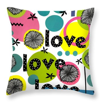 Playful Love Throw Pillow