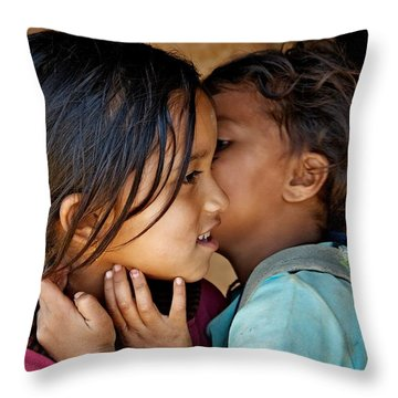 Playful Secrets Throw Pillow by Valerie Rosen