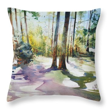 Playful Shadows Throw Pillow