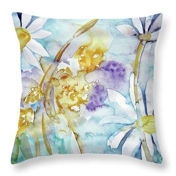 Playfulness Throw Pillow by Jasna Dragun