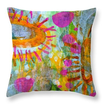 Playground In The Sea Throw Pillow