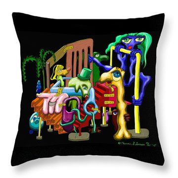Playground Throw Pillow