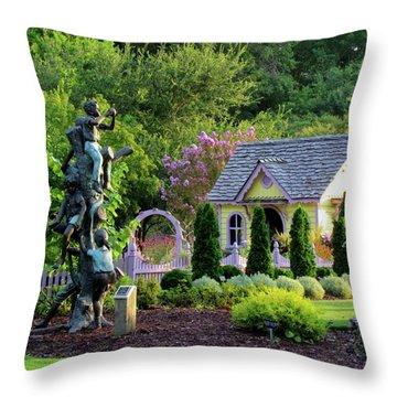Playhouse In The Garden Throw Pillow