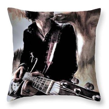 Playin' Grunge Throw Pillow