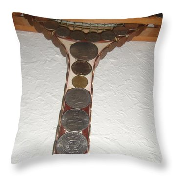 Playin With Money Throw Pillow