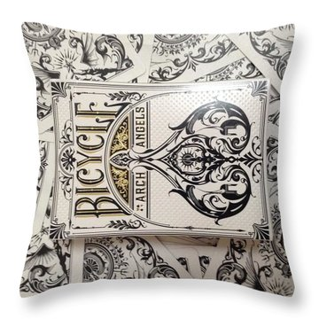 Playing Cards Throw Pillow by Sheila Mcdonald