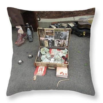 Playing For Dinner Throw Pillow