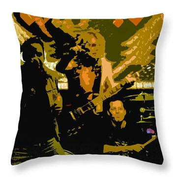 Playing Hard Throw Pillow by David Lee Thompson