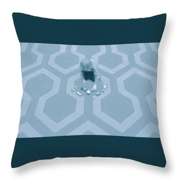 Playing In The Overlook Throw Pillow by Kurt Ramschissel