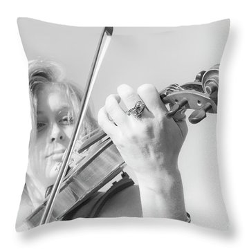 Throw Pillow featuring the photograph Playing Me Softly by Bob Christopher