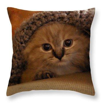 Playing Peek-a-boo Throw Pillow