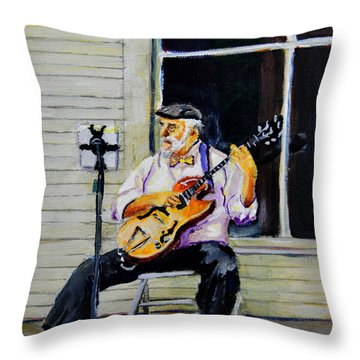 Playing Some Music Throw Pillow