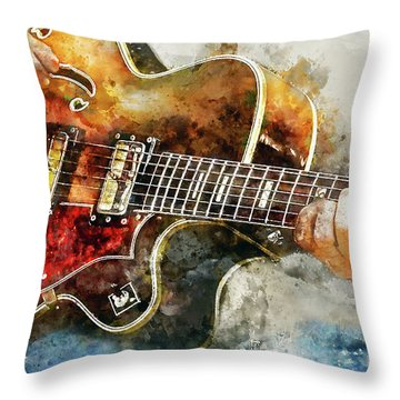 Playing The Blues Throw Pillow