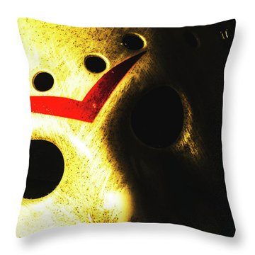 Playing The Intimidator Throw Pillow