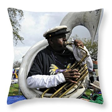Playing To The Crowd Throw Pillow by Kathleen K Parker