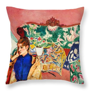 Playing With Henri Matisse Throw Pillow