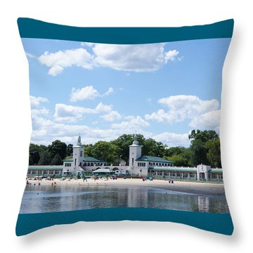 Playland Beach Boardwalk Throw Pillow