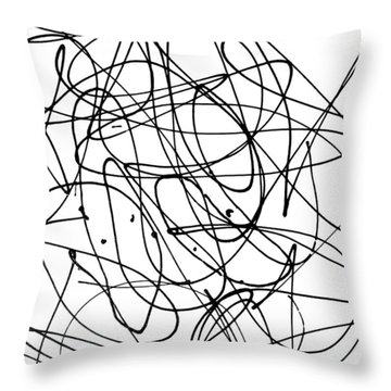 Playmates - Abstract Throw Pillow