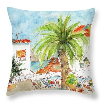 Plaza Altea Alicante Spain Throw Pillow