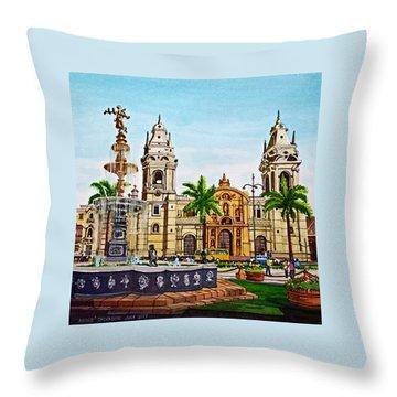 Plaza Armas, Cusco, Peru Throw Pillow