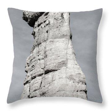 Throw Pillow featuring the photograph Plaza Blanca Hoodoo by Britt Runyon