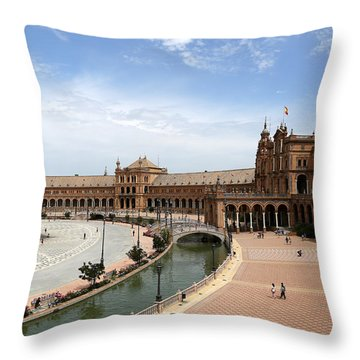 Throw Pillow featuring the photograph Plaza De Espana 4 by Andrew Fare