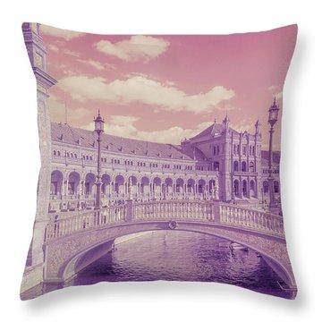 Throw Pillow featuring the photograph Plaza De Espana. Dreamy by Jenny Rainbow
