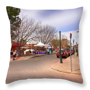 Plaza De Mesilla Throw Pillow