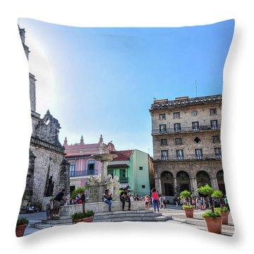 Plaza De San Francisco De Asis Throw Pillow