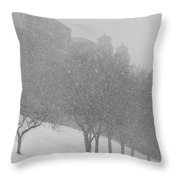 Plaza Impressionism With Kc Snow Throw Pillow