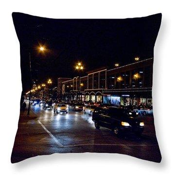 Plaza Lights Throw Pillow