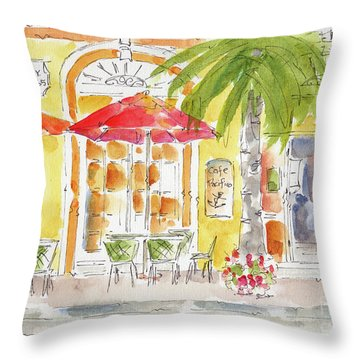Plaza Machada Mazatlan Throw Pillow