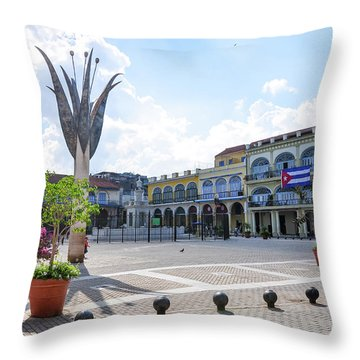 Plaza Vieja Throw Pillow