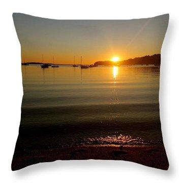 Pleasant Bay Sunrise Throw Pillow