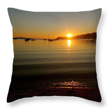 Pleasant Bay Sunrise Throw Pillow