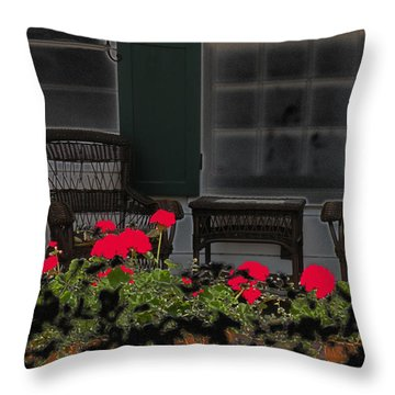 Throw Pillow featuring the photograph Pleasant Evening by Rosalie Scanlon