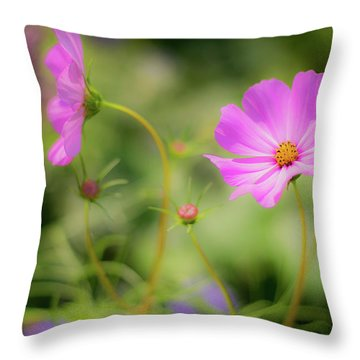 Pleasant Summer Wild Flowers Throw Pillow