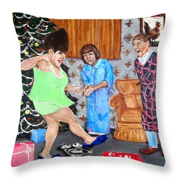 Please Dawn Not On Christmas Throw Pillow