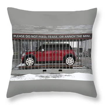 Please Do Not Feed Tease Or Annoy The Mini Throw Pillow