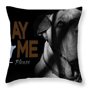 Please Pray For Me Throw Pillow