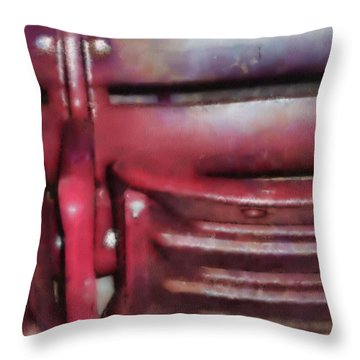 Please Take Your Seat Throw Pillow by Paulette B Wright