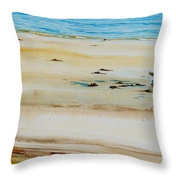 Pleasant Bay Clammer Throw Pillow