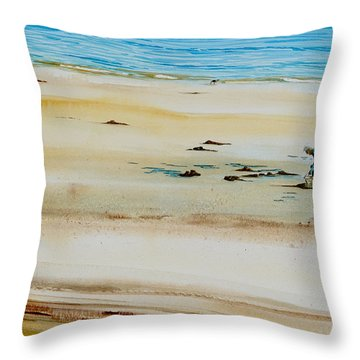 Pleasant Bay Clammer Throw Pillow