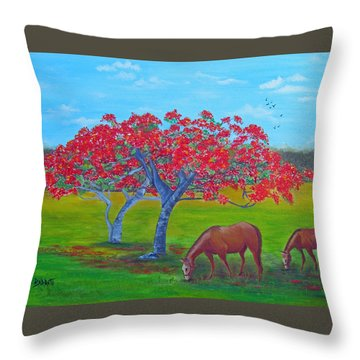 Pleasent Pastures Throw Pillow