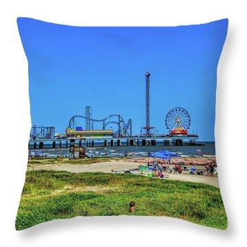 Pleasure Pier Sunny Day Throw Pillow