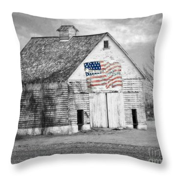 Pledge Of Allegiance Crib Throw Pillow by Kathy M Krause
