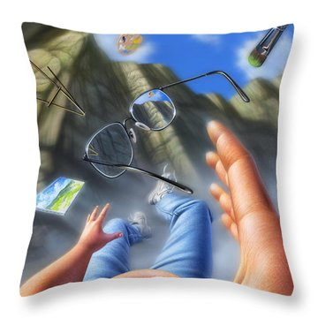 Plein Air Throw Pillow by Jerry LoFaro