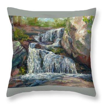 Plein Air - Waterfall Throw Pillow